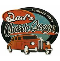 fiftiesstore Dad's Classic Garage Retro Zwaar Metalen Bord 50 x 42 cm