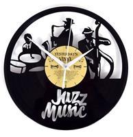 fiftiesstore Vinyl Klok Jazz Music - Gemaakt Van Een Gerecyclede Plaat