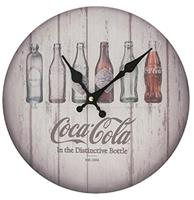 fiftiesstore Coca-Cola Bottles Evolution Klok - Hout