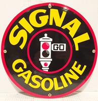fiftiesstore Signal Gasoline Emaille Bord 12 / 30 cm