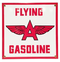fiftiesstore Flying A Gasoline Emaille Bord