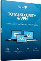 F-Secure Total Security & VPN 2020, download, volledige versie 5 Apparaten 1 Jaar