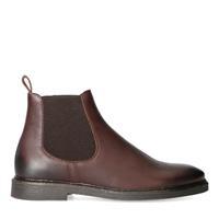 Sacha Bruine leren chelsea boots  - bruin