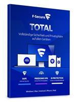 F-Secure Total Security & VPN 2021 5 eenheden / 1 jaar