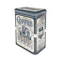 fiftiesstore Tinnen Blik Met Klip - Coffee Shop
