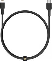 Apple Aukey USB-C naar Lightning kabel - Zwart - 1.2m
