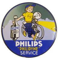Fiftiesstore Philips Philidyne Service Emaille Bord - 13 cm ø