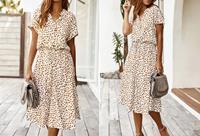 Leopard midi jurk
