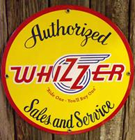 Fiftiesstore Whizzer Sales And Service Emaille Logobord