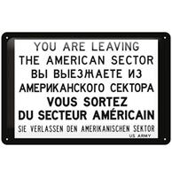 Fiftiesstore Metalen Bord 20 x 30 You Are Leaving