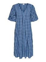 Only Checked Midi Dress Dames Blauw