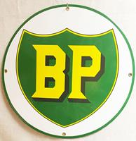Fiftiesstore BP Logo Rond Emaille Bord 30 cm