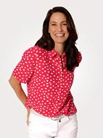 Mona Blouse  Rood::Wit