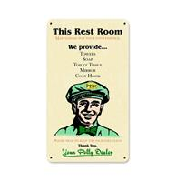 Fiftiesstore Polly Gas Rest Room Metalen Bord 34,5 x 20,5 cm