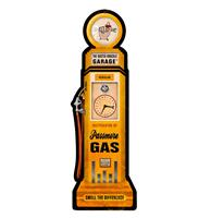 Fiftiesstore The Busted Knuckle Garage Passmore Gas Pump Zwaar Metalen Bord