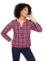 Your Look... for less! Dames Blouse rood geruit Größe