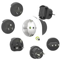 Q2Power Qplux Europe 5-in-1 Stopcontact Adapter - Wit