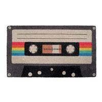Fisura Retro deurmat in jaren 80 cassette tape stijl