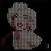 Fisura Marilyn Monroe Poster in pixel art design