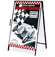 Fiftiesstore Gilmore Stadium Midget Automobile Races Metalen Frame Met Bord