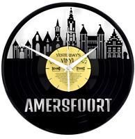 Fiftiesstore Vinyl Klok Skyline Amersfoort - Gemaakt Van Een Gerecyclede Plaat