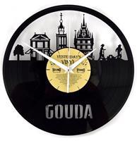 Fiftiesstore Vinyl Klok Skyline Gouda - Gemaakt Van Een Gerecyclede Plaat