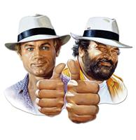 Fiftiesstore Bud Spencer Terence Hill Thumbs Up Metalen Bord 45 x 45 cm