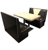 Fiftiesstore Retro Diner Set Vegas Zwart Wit Glitter 120 cm