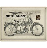 Fiftiesstore Metalen Bord 30x40 Moto Guzzi Speciale Editie 100 Jaar Jubileum