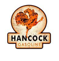 Fiftiesstore Hancock Gasoline Zwaar Metalen Bord 40x40cm