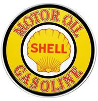 Fiftiesstore Shell Motor Oil Gasoline Metalen Bord 60 cm