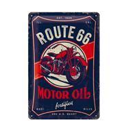 Fiftiesstore Tinnen Bord 20 x 30 Route 66 Motor Oil