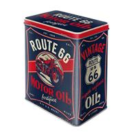 Fiftiesstore Tinnen blik Route 66 Motor Oil