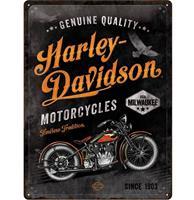 Fiftiesstore Harley-Davidson Timeless Tradition Metalen Bord - 30 x 40 cm