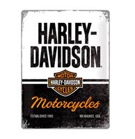Fiftiesstore Tinnen Bord 30 x 40 Harley-Davidson - Motorcycles