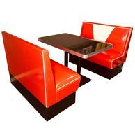 Fiftiesstore Retro Diner Set Vegas Rood Wit Glitter 120 cm