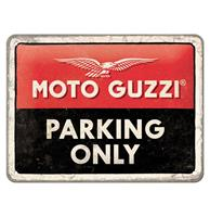 Fiftiesstore Metalen Bord 15 x 20 'Moto Guzzi - Parking Only'