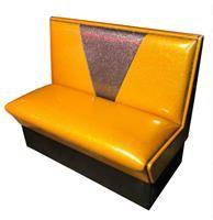 Fiftiesstore Retro Diner Bank Vegas Goud Grijs Glitter 120 cm