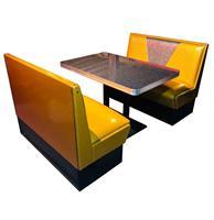 Fiftiesstore Retro Diner Set Vegas Goud Grijs Glitter 120 cm