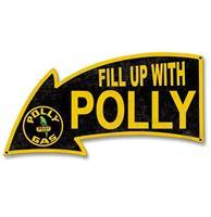 Fiftiesstore Fill Up With Polly Arrow Zwaar Metalen Bord - 69 x 31 cm