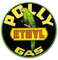 Fiftiesstore Polly Gas Ethyl Zwaar Metalen Bord - 36 cm ø