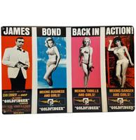 Fiftiesstore James Bond Goldfinger - Metalen Bord 29.5 x 44.5 cm