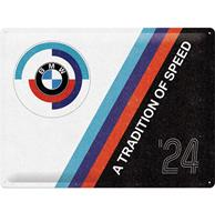 Fiftiesstore Tin Signs 30 x 40 cm BMW Motorsport - Tradition Of Speed