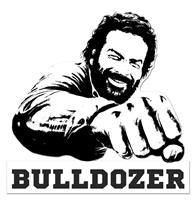 Fiftiesstore Bud Spencer Bulldozer Metalen Bord 45 x 45 cm