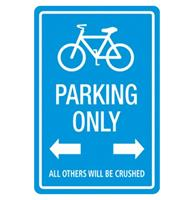 Fiftiesstore Parking Only All Others Will Be Crushed Metalen Bord 20 x 30 cm