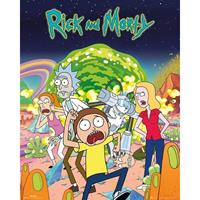 Merkloos Gbeye Rick And Morty Group Poster 40x50cm
