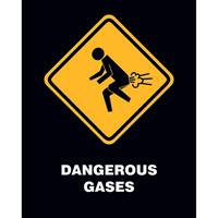 Pyramid Dangerous Gases Poster 40x50cm
