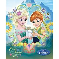 Pyramid Frozen Fever Anna And Elsa Frame Poster 40x50cm