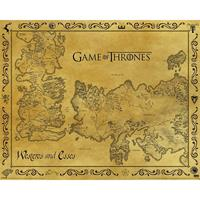 Pyramid Game Of Thrones Antique Map Poster 50x40cm