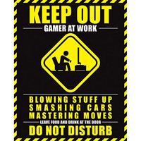 Pyramid Gamer At Work Do Not Disturb Poster 40x50cm